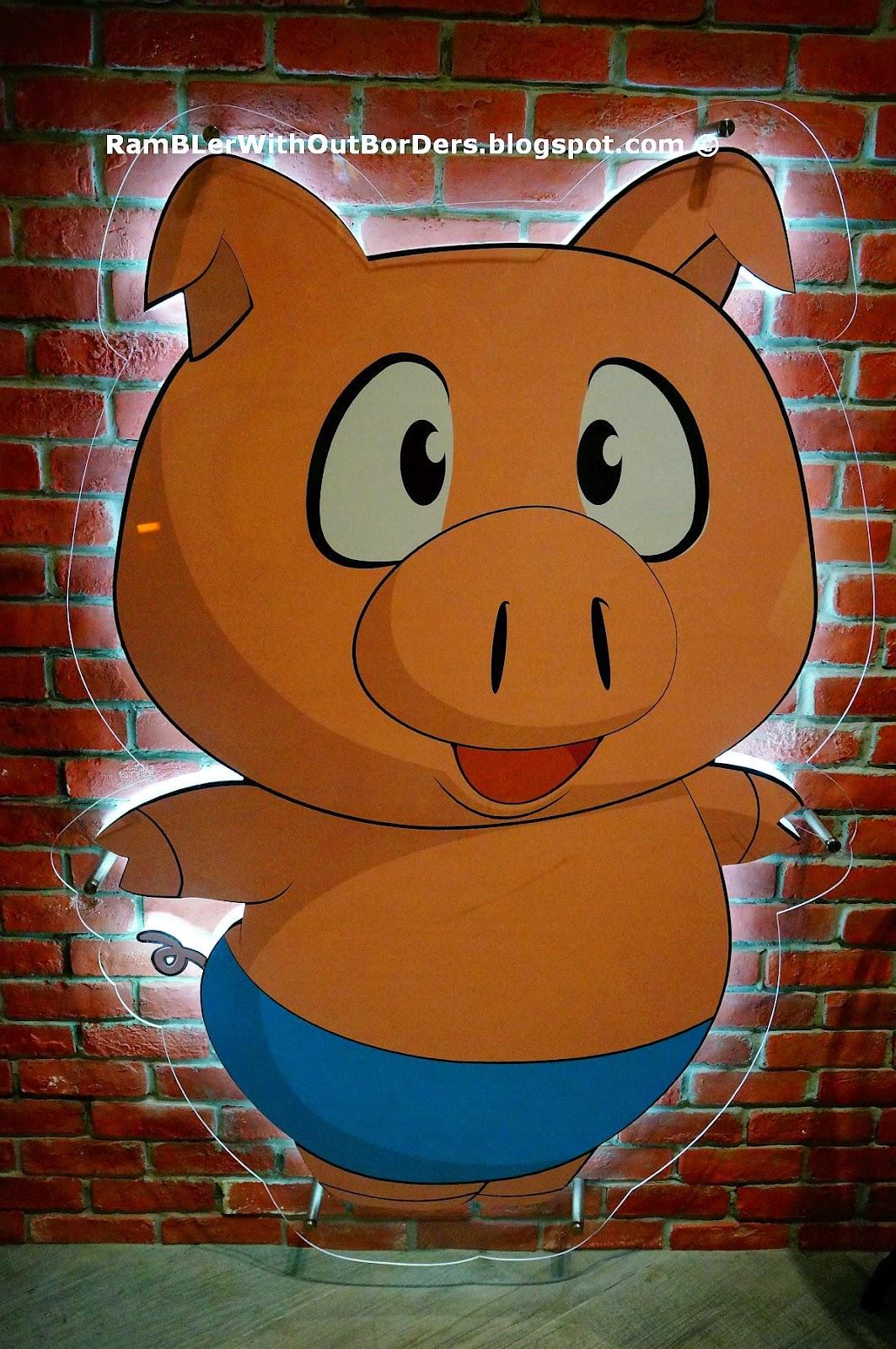 Pig logo, Tai Lei Loi Kei in Nex, Serangoon, Singapore