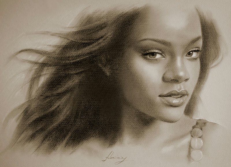 11-Rihanna-krzysztof20d-2b-and-8b-Pencils-Clear-Pastel-Celebrity-Drawings-www-designstack-co