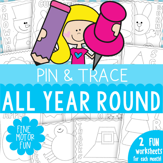 Fine Motor Pinning and Tracing Activities