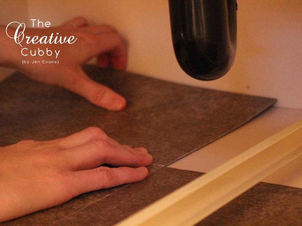 The Creative Cubby How To Add Vinyl Tiles To Cabinets