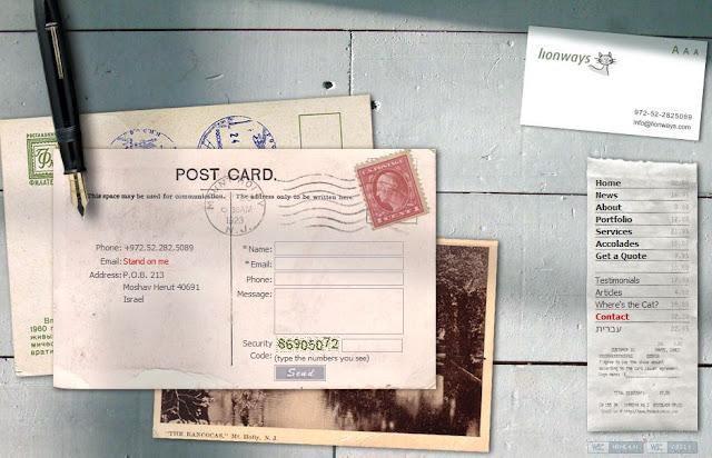 formulario de contacto tipo postal