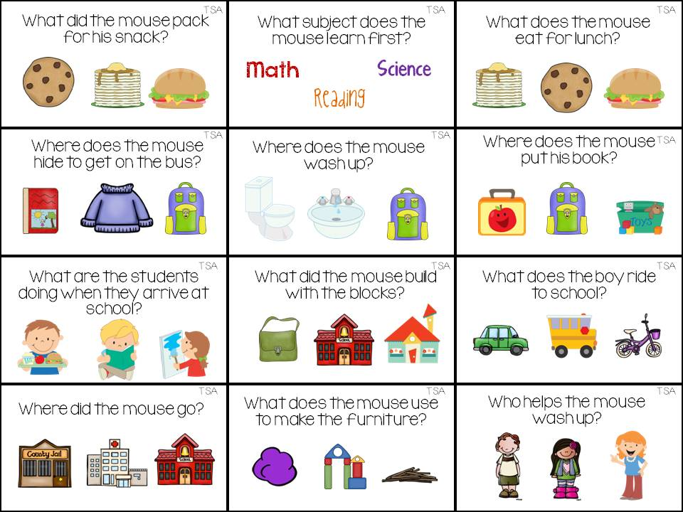Number Line Worksheets simple wh questions worksheets : The Speech Attic: July 2015