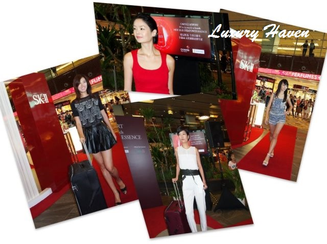 sk-ii first in the world launch airport fashion shows