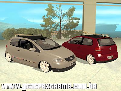 Volkswagen Fox na Fixa + Prancha Surf para GTA San Andreas