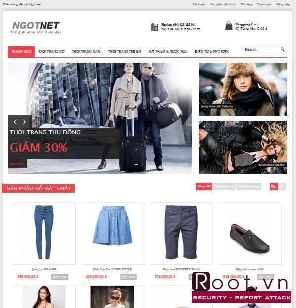 Mẫu web bán hàng đẹp thời trang