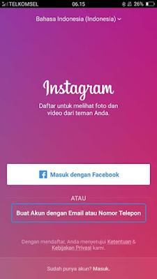 Cara Membuat Akun Instagram 1