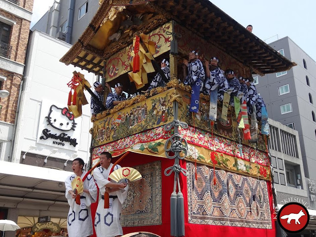 Char kitakannon yama de Gion matsuri à Kyoto
