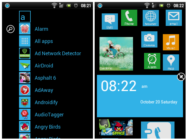 Launcher WP8 app drawer