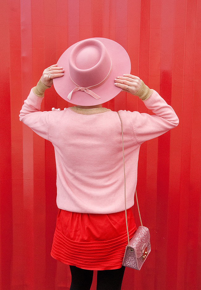 Lack of Color, pink hat, fashion blogger
