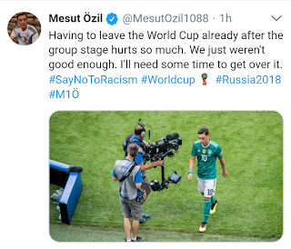 German player Mesut Ozil speaks on world cup early exit