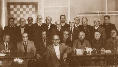 Participantes en el I Torneo Abierto de Barcelona de la 3ª Edad de 1979