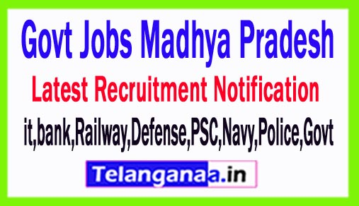 Latest Madhya Pradesh Government Job Notifications