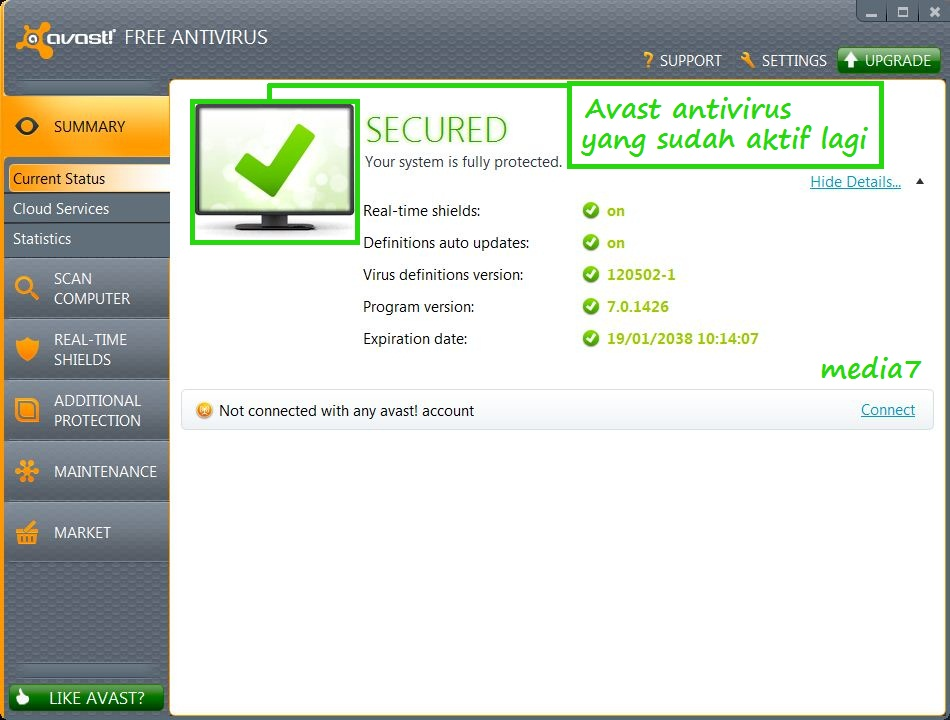 Cara Menonaktifkan/Mematikan Avast Antivirus Sementara ...