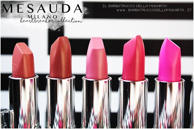 makeup recensione heartbreaker lipstick, rossetto matt , matt lipstick , mesauda