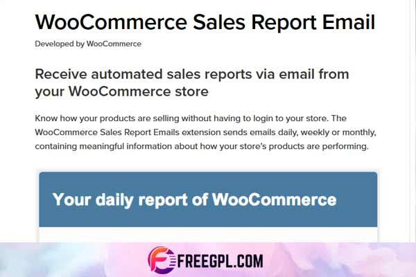 WooCommerce Sales Report Email WordPress Plugin Free Download