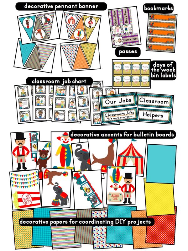 Kindergarten Classroom Decoration Printables ~ Circus carnival themed classroom ideas photos tips