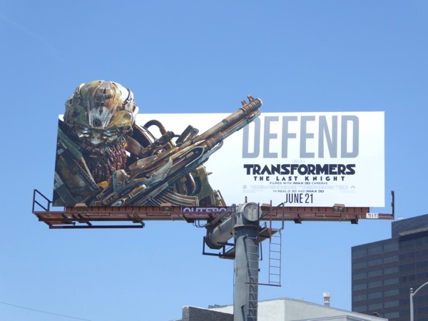 Transformers Last Knight Defend billboard