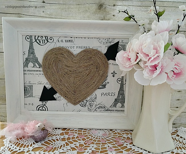 Vintage Paint and more - a vintage bit of Valentine wall art made with thrift store finds