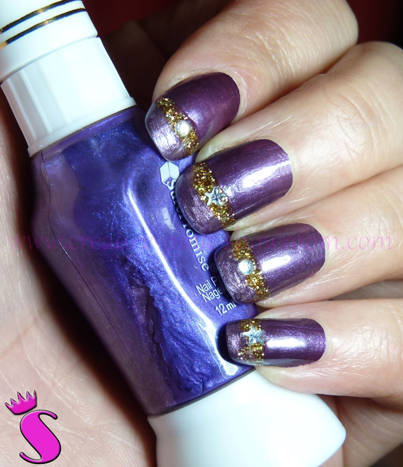 Showroom By Creative Pink Nageldesign Lila Noch Mehr Lila Gold