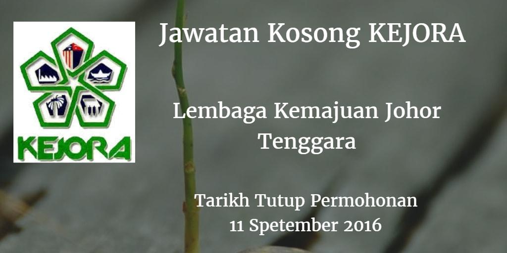 Jawatan Kosong KEJORA 11 September 2016