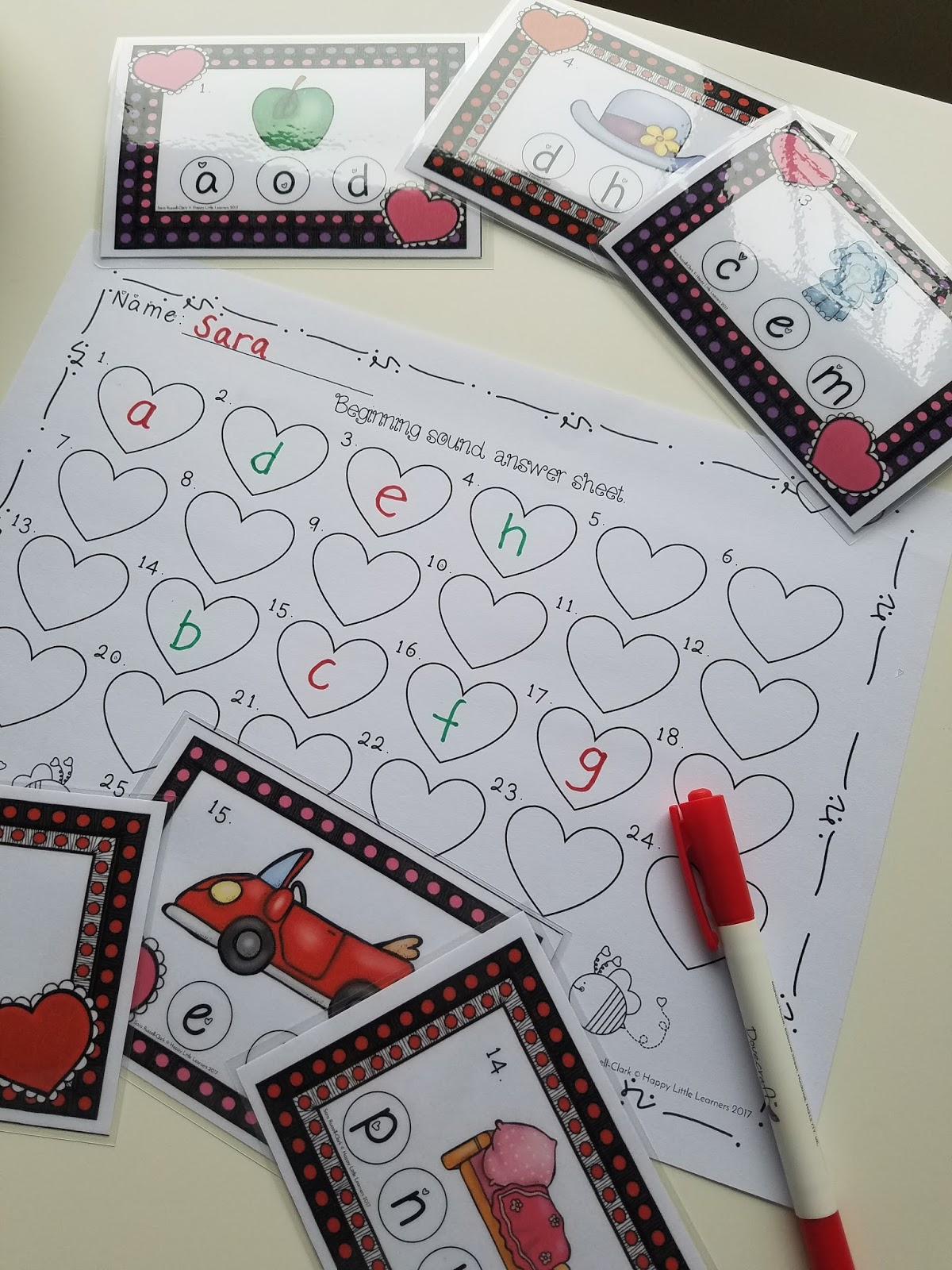 Happy Little Learners Valentine S Day Literacy And Math