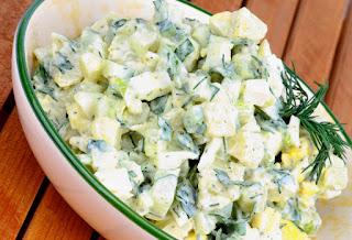 creamy potato green bean salad