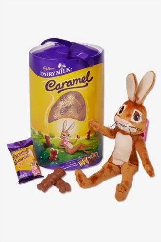 Cadbury Caramel Easter Egg and Caramel Bunny
