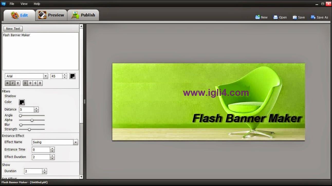 برنامج Flash Banner Maker