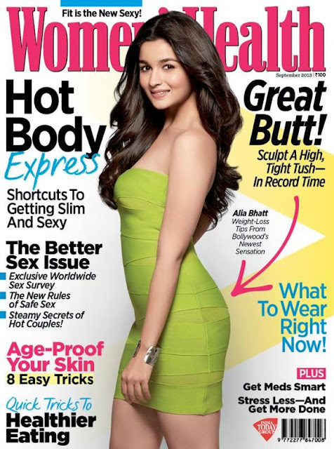 Bollywood's Newest sensation Alia Bhatt on the cover of Women's Health Magazine