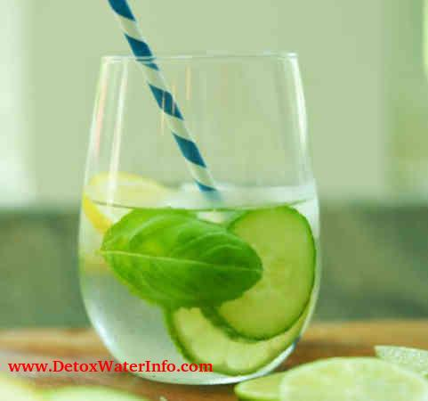 Lemon, cucumber and mint water