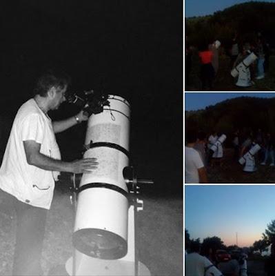 Εξόρμηση αστροπαρατήρησης με μέλη των ομάδων φοιτητών και εφήβων του Κέντρου Πρόληψης Αριάδνη