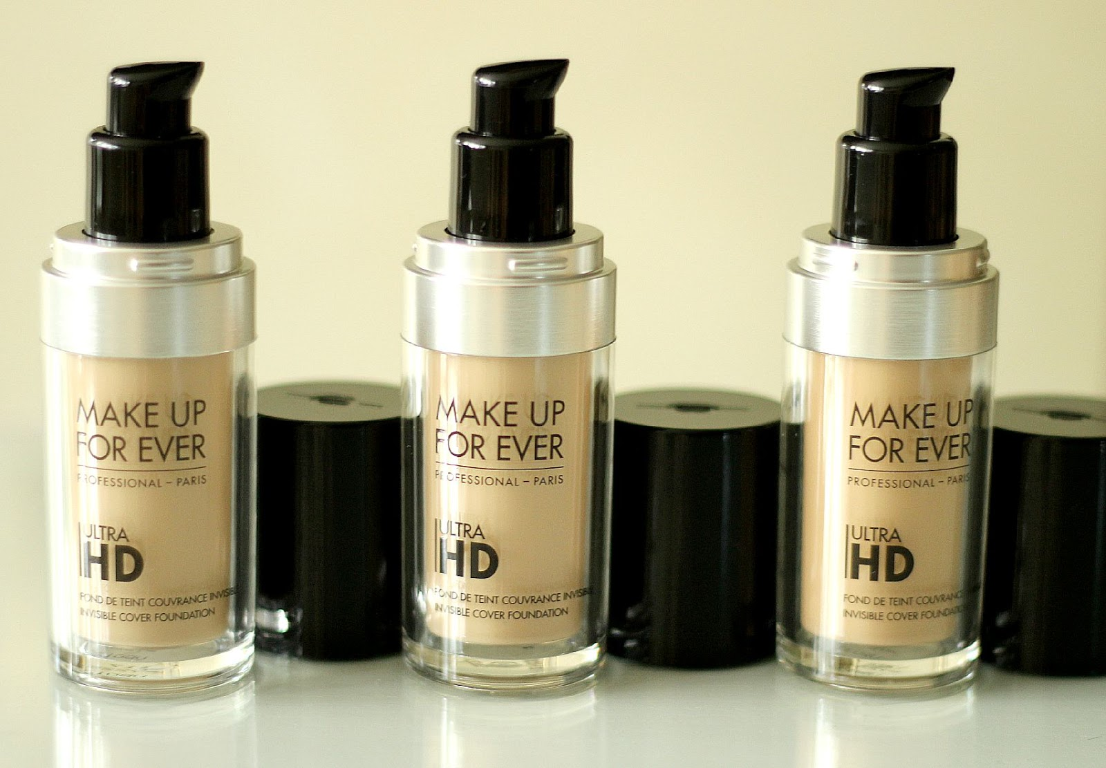 Make Up For Ever Ultra HD Invisible Cover Foundation Y225 Y235 Y245 Review