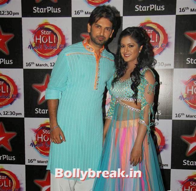Rahul Sharma and Ishita Dutta,  Jennifer winget, Shayantani , Others at Star Plus Holi Masti Gulal Ki
