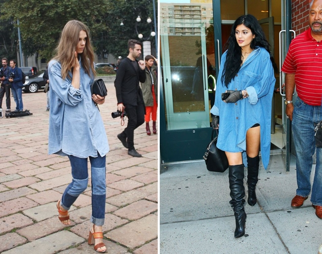 look oversized jeans