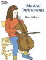 Image: Musical Instruments Coloring Book (Dover Design Coloring Books), by Ellen J. McHenry. Publisher: Dover Publications; Clr Csm edition (October 19, 1995)