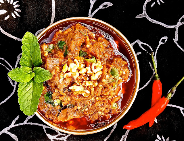 indian baba ghaneoushh aubergines Desi