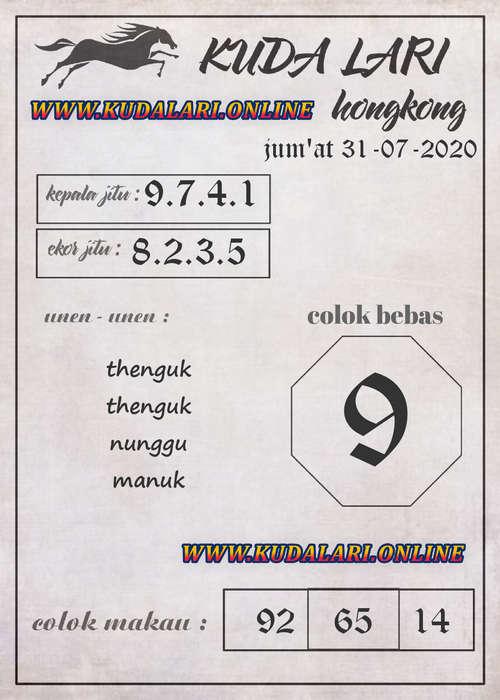 Kode syair Hongkong Jumat 31 Juli 2020 177