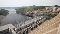 This hydro dam in Baie-Comeau, Quebec, could benefit from provisions of the energy bill that passed through the state Legislature on Sunday. (Credit: Jacques Boissinot/The Canadian Press/AP/File) Click to Enlarge.