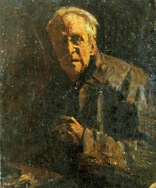 Edward King, Self Portrait, Portraits of Painters, Fine arts, Portraits of painters blog, Paintings of Edward King, Painter Edward