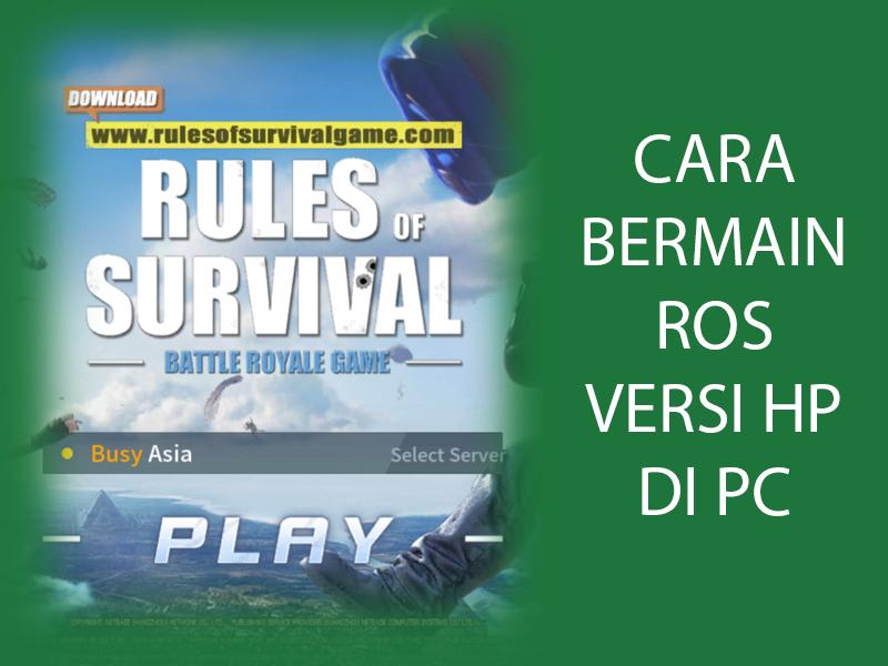 5 Game Battle Royale Terbaik Dan Sedang Hits Di Ios Dan: Cara Bermain Rules Of Survival Versi Mobile Di PC
