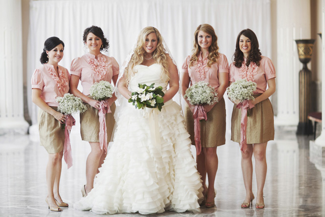 1b0bd58ae9 Some brides would like to follow the mismatched bridesmaids trend, but they  still would like to choose their bridesmaids' outfit.