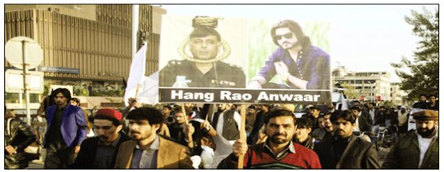 نقیب اللہ قتل : اسلا آباد میں راؤ انوار کے خلاف اختجاجی کیپ دھرنے میں تبدیل ہوگیا