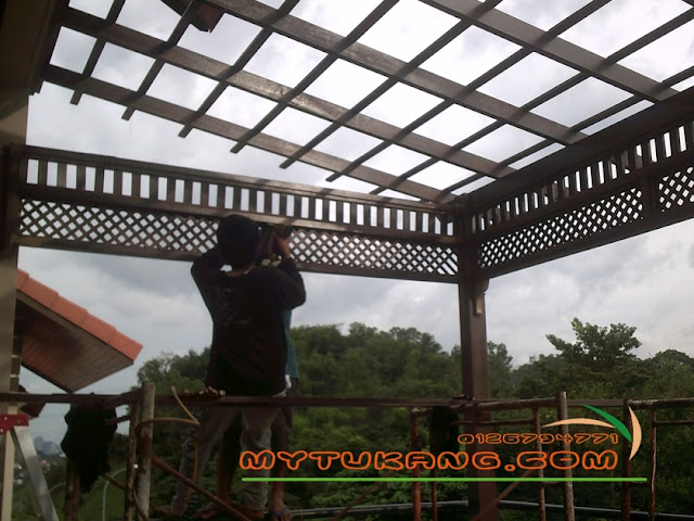 Pergola Awning Kayu Atap Genting Solid Polycarbonate Atap Asphal Shingle Contractor Ubahsuai Rumah Berpengalaman Bina Dan Ubahsuai Rumah