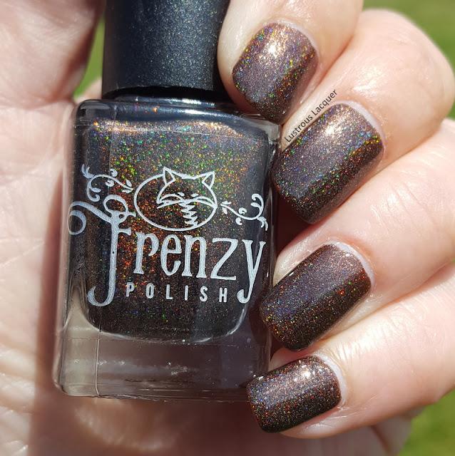 Chocolate brown holographic nail polish