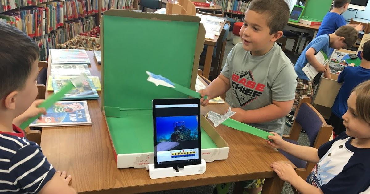 Portable Green Screens in the Library