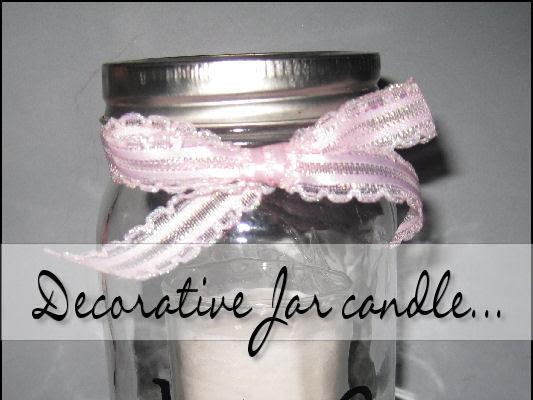 Decorative Jar Candle..