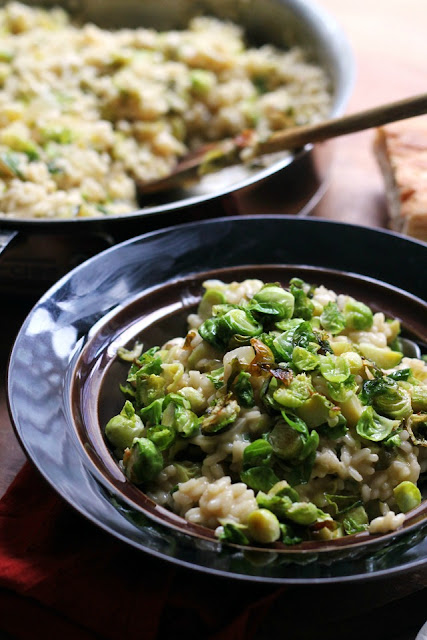 Brussels Sprouts Risotto from Eats Well With Others