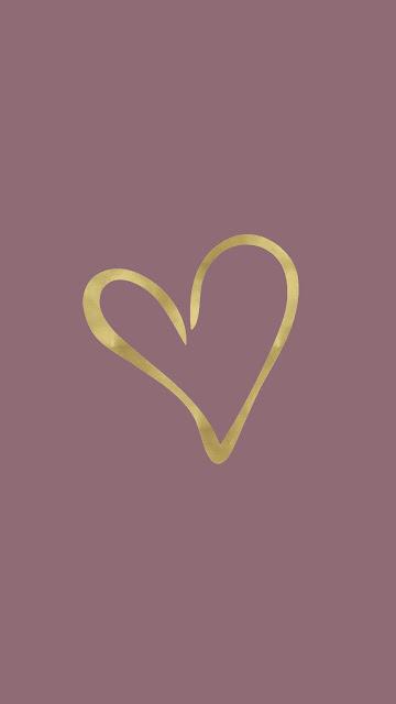 Fondo de Pantalla de Corazón Dorado