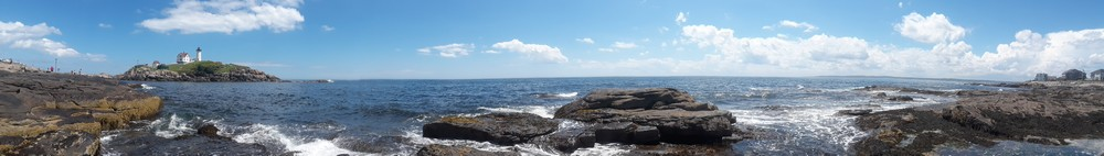 Panorama sur le phare Nubbles