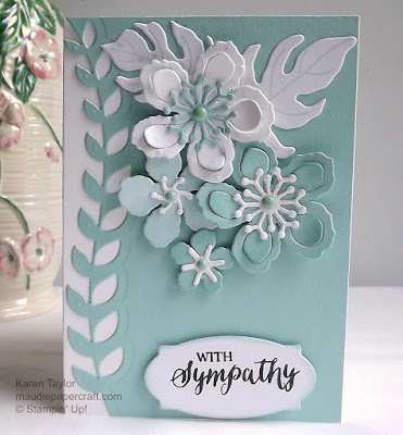 Stampin' Up! Botanical Blooms sympathy card